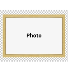 Standing wooden blank clean frame for family photo vector