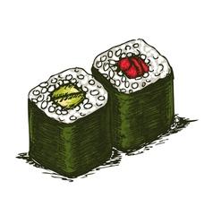 tasty rolls vector image