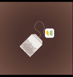 tea bag vector image