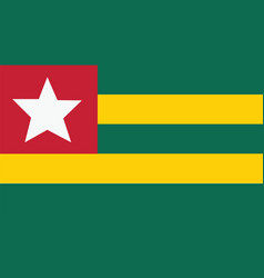 Togo flag for independence day and infographic vector