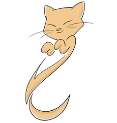 abstract cat with smile vector image