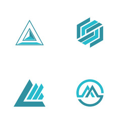abstract triangle logos vector image vector image