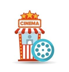 Cinema movie ticket office film reel graphic vector