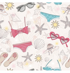 Cute summer abstract pattern vector image vector image