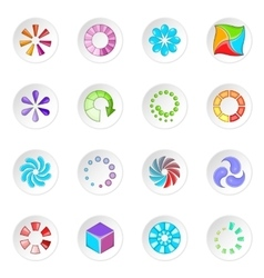 Download status icons set vector image