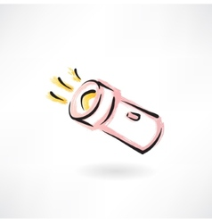 flashlight grunge icon vector image