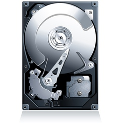Hard disk drive HDD vector image vector image
