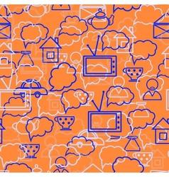speech bubbles orange background vector image