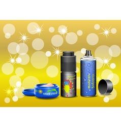 Cosmetic cream and deodorant vector image vector image