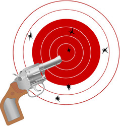 gun and the target vector image vector image
