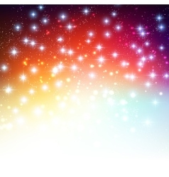 Merry Christmas Holiday background with shiny star vector image