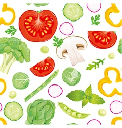 Seamless pattern of vegetables vector image vector image