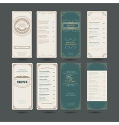 Set Of Vintage Restaurant Menu Design Template vector image vector image