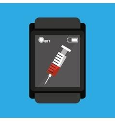 Smartwatch device health syringe vector