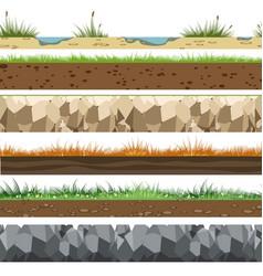 soil horizontal patterns vector image vector image