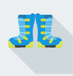 isolated snowboard boots vector image vector image