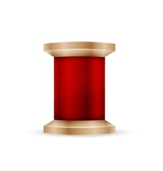 Spool of red thread vector image
