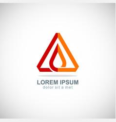 triangle oil drop logo vector image
