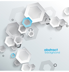 Abstract blue background with place for your text vector image vector image