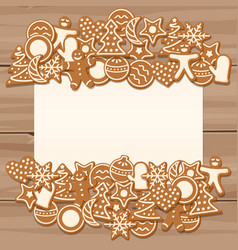 blank sheet for christmas and new year greetings vector image vector image