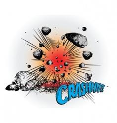 comic book crash vector image