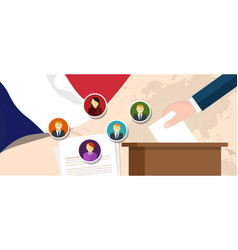 france democracy political process selecting vector image vector image