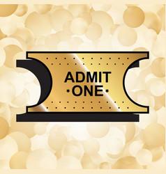 gold ticket icon vector image vector image