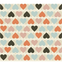 retro heart pattern vector image