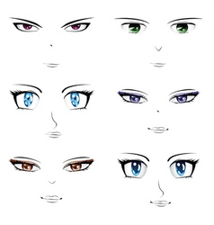 Anime faces vector