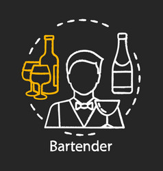 Bartender chalk icon barman barkeeper alcoholic vector