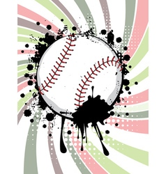 Baseball Ball on Background with Rays3 vector
