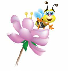 bee and blossom vector image vector image
