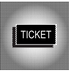 black ticket icon vector image