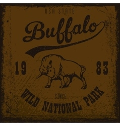 Buffalo vintage outdoor vector