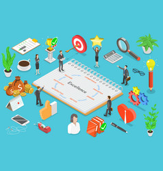business excellence isometric flat vector image