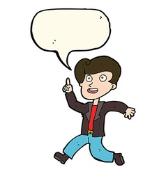 Cartoon man with great idea with speech bubble vector