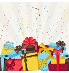 Celebration background or card with colorful gift vector image vector image