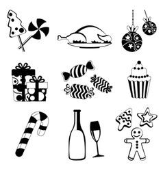 Christmas food and drink vector