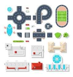 City Element Top View Set vector