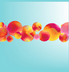 color flow poster with balls banner vector image
