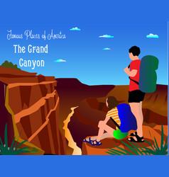 Colorado river in grand canyon national par vector