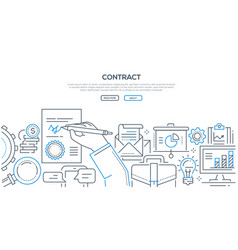 contract - modern line design style vector image
