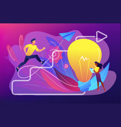 Creative inspiration concept vector