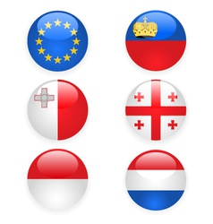 europe flags buttons part three vector image