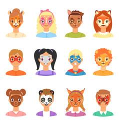 face paint kids children portrait with vector image