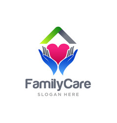 family home care logo design vector image