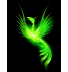 Feniks open Green 01 vector image