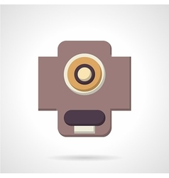 Flat color support bearing icon vector image