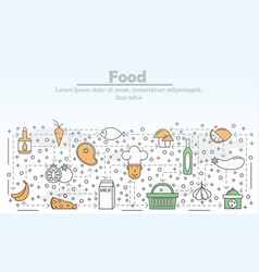 food advertising flat line art vector image