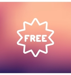 Free tag thin line icon vector image